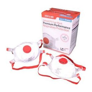 Ultimate Valved Moulded Disposable Mask  (Pack of 10)
