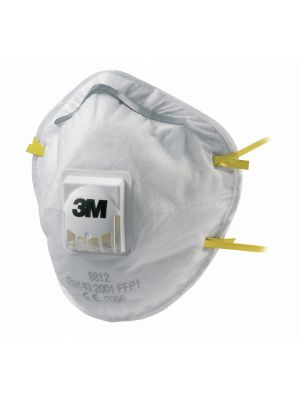 3M 8812 FFP1 Valved Dust/Mist Respirator - 10 Box