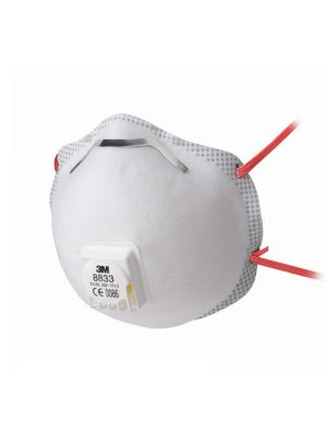 3M 8833 FFP3 Cup Shaped Valved Respirator