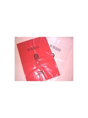 Asbestos Bags (Pack of 100) Red / Clear Colours