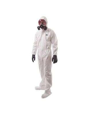 Portwest Biztex Microporous ST41 Coverall Cat 3 Type 5/6 Includes Boot Cover
